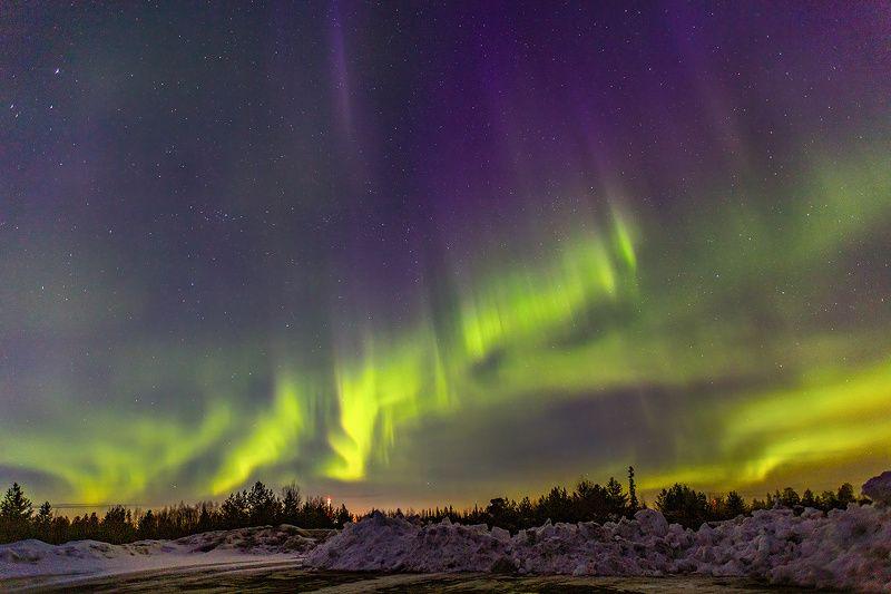 печора,север,коми,северное сияние,аврора,весна Ночная радуга севераphoto preview