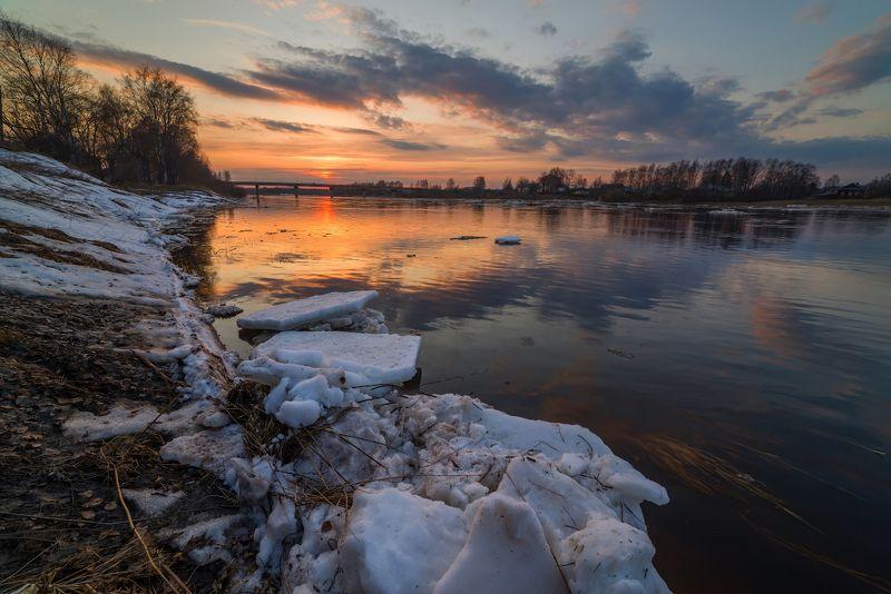 ледоход, весна, река, апрель Ледоходphoto preview