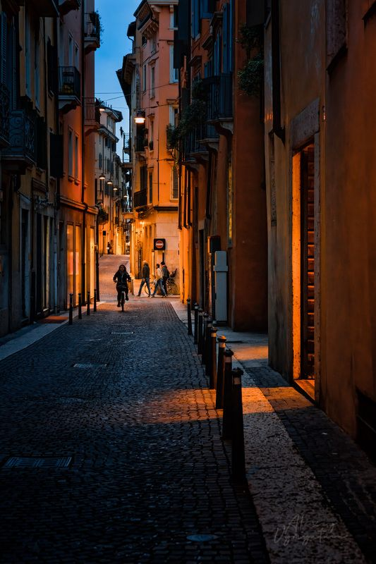 verona, italy, night, lights, outdoor, travel On the night streetsphoto preview