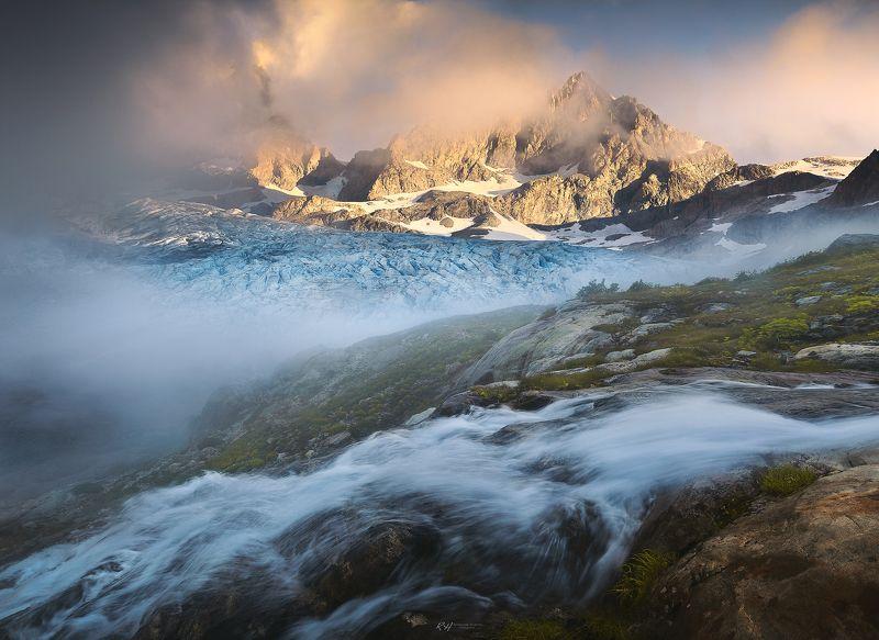 #landscape #mountains #alps #italy #sunset #sunrise #france Glacier dream фото превью