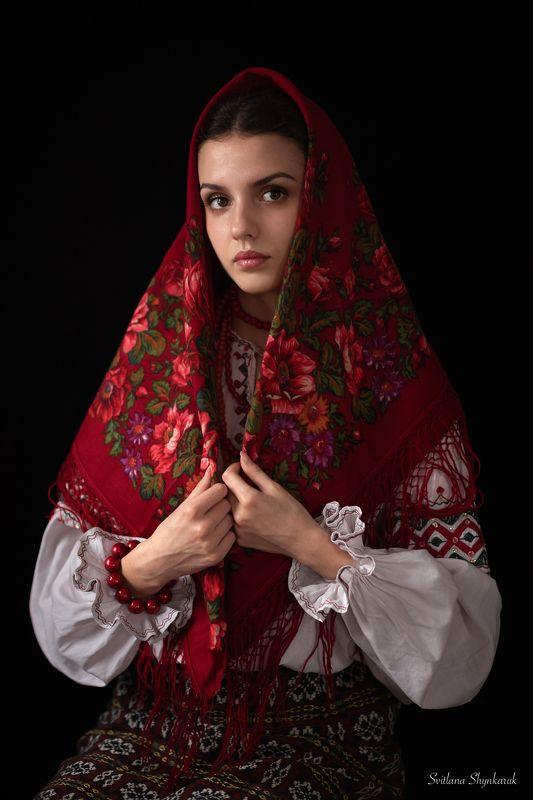 portrait, fragile, natural beauty, female portrait, traditional, home studio Ukrainian girlphoto preview