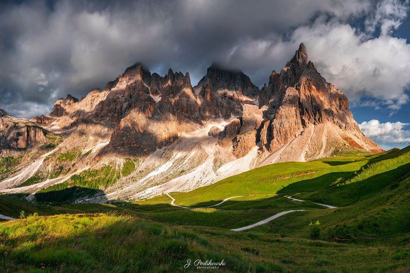 mountains, summer, clouds Summer in Dolomitesphoto preview