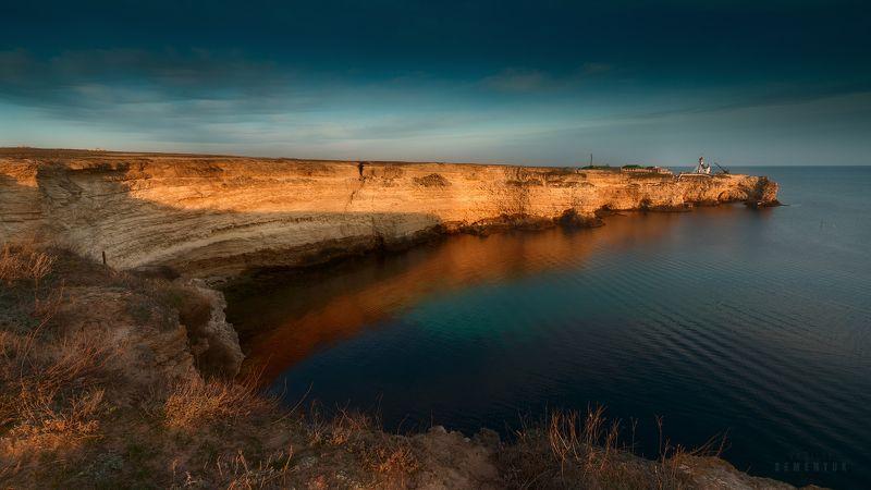 крым, тарханкут, большой атлеш, море, скалы, берег, закат, пейзаж, crimea, sea, coastal, rocks, dusk, sunset, seascape. Большой Атлеш, Закатная.photo preview