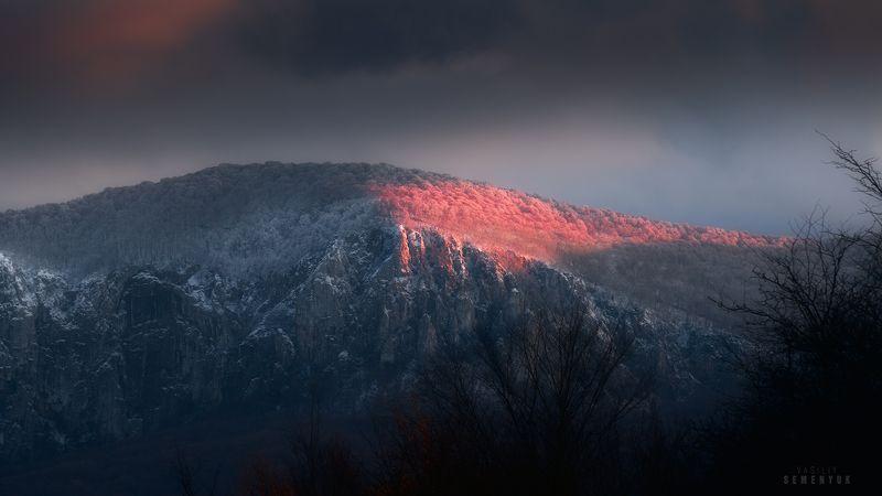 крым, седам-кая, осень, закат, буря, пейзаж, горы, mountain, crimea, snow storm, last light, landscape Последний луч.photo preview