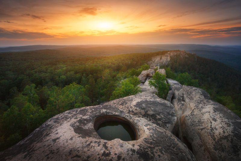 озеро, горы, лес, природа, закат, рассвет, красота, приключения, путешествие Всевидящее око Аракульского шиханаphoto preview