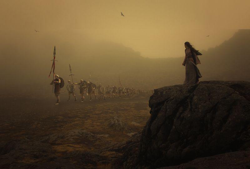девушка, скалы, легионеры После битвыphoto preview
