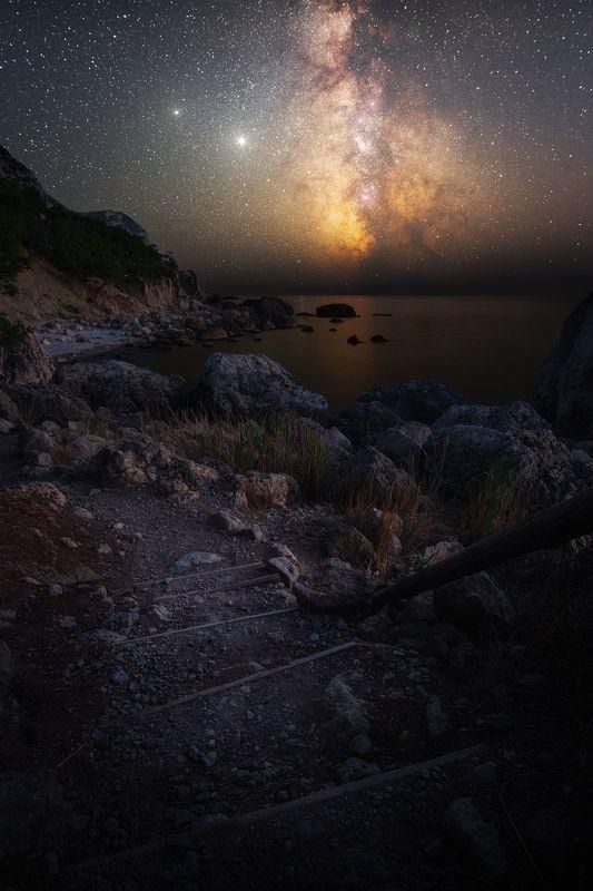 звезды, крым, юбк, астро, млечный путь, черное море, балаклава, инжир, ночь, осень Место силыphoto preview