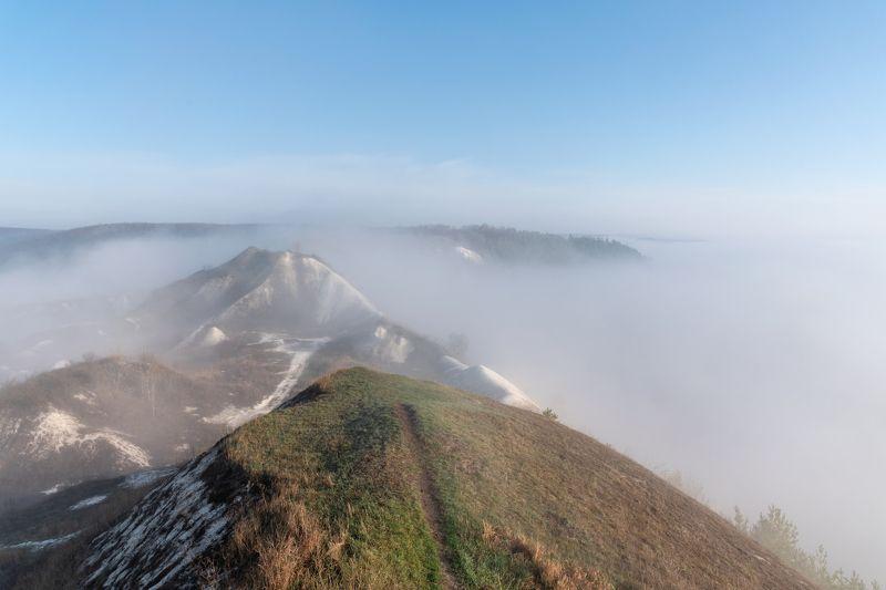 крапивенское городище, рассвет, туман Крапивенское городищеphoto preview
