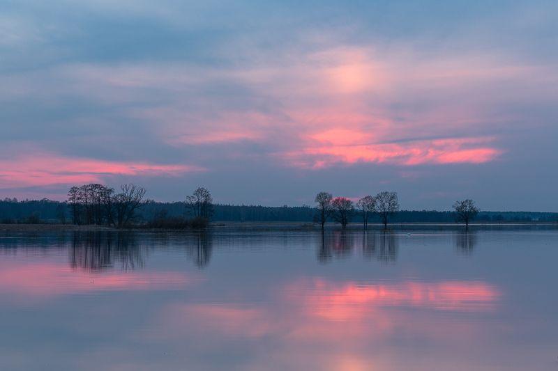 dviete, landscape sunset,blue Dvietephoto preview