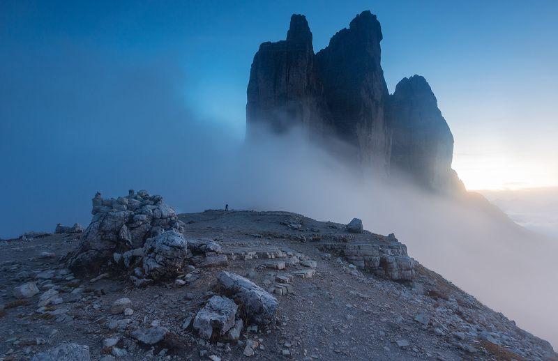 италия, доломиты, горы, облака, закат, осень, природа, landscape, italy, dolomites Пейзаж с фотографом.photo preview