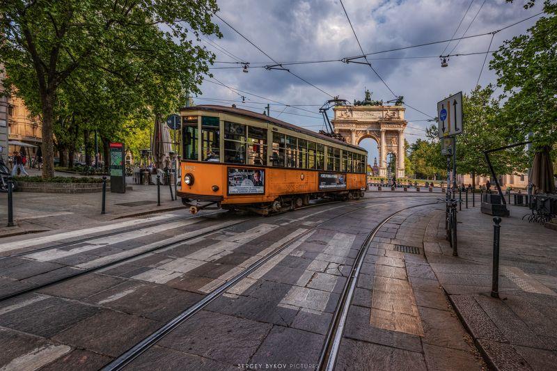 milan, italy, street, mood, cityscape Milano Corso Sempionephoto preview