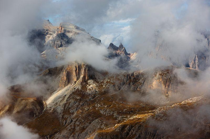 италия, доломиты, горы, облака, природа, landscape, italy, dolomites Доломиты.photo preview