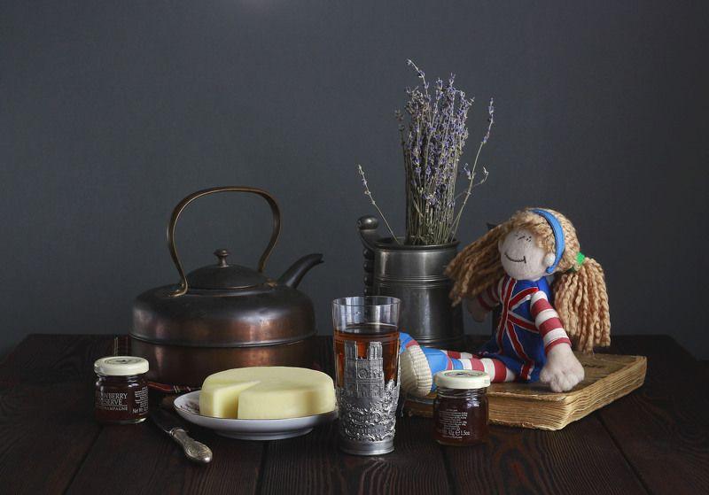 натюрморт, фотонатюрморт, чайник, сыр, чай, наталья казанцева С английским чайником. Картинкаphoto preview