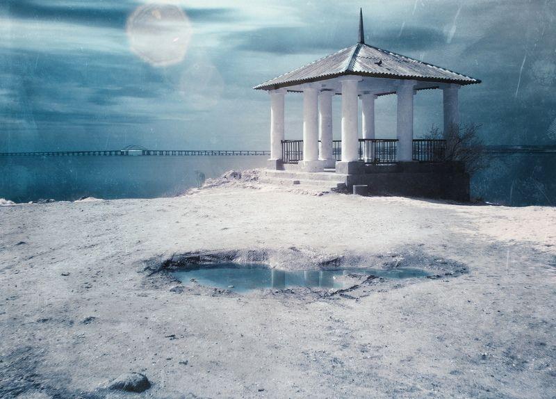 весна, пляж, черное море, керченский пролив, камни, скалы, инфракрасная фотография, античное городище мирмекий, крымский мост, тишина, покой, боспорское царство, керчь, крым, россия, анатолий щербак Констатация марта.photo preview