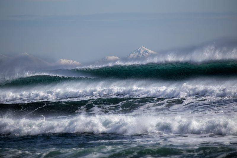 волна, волны, камчатка, море, океан, пейзаж, прибой, россия, шторм Тихий океанphoto preview