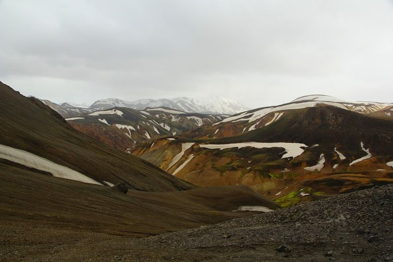 hike, walk, mountains, landscape, relief, nature, view, morning, season, summer, mood, sky, national, snow, peak, path, road, route, discovery, tourism, travel, beautiful, national, history, valley, park, interesting place, interest, weather, stone, color Landmannalaugarphoto preview