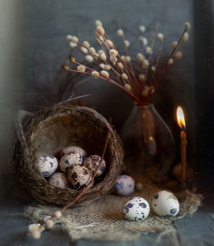 верба свеча воскресенье вербное ваза стекло яйца перепелиные воскресенье вербное*photo preview