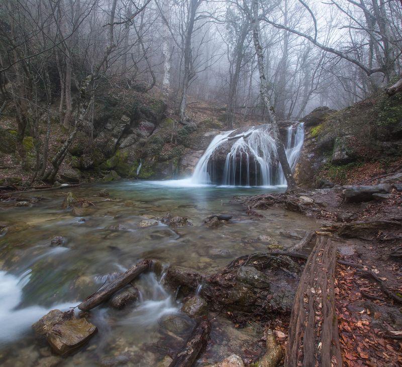 крым, водопад, джур джур, река, туман, весна, апрель Туманная веснаphoto preview