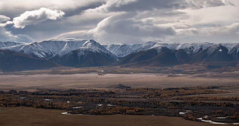 алтай, курайская степь., непогода., сентябрь 2020 В Курайской степи.photo preview