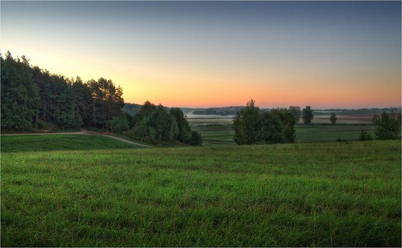 весна, поле, рассвет, дымка, Весенний рассветphoto preview