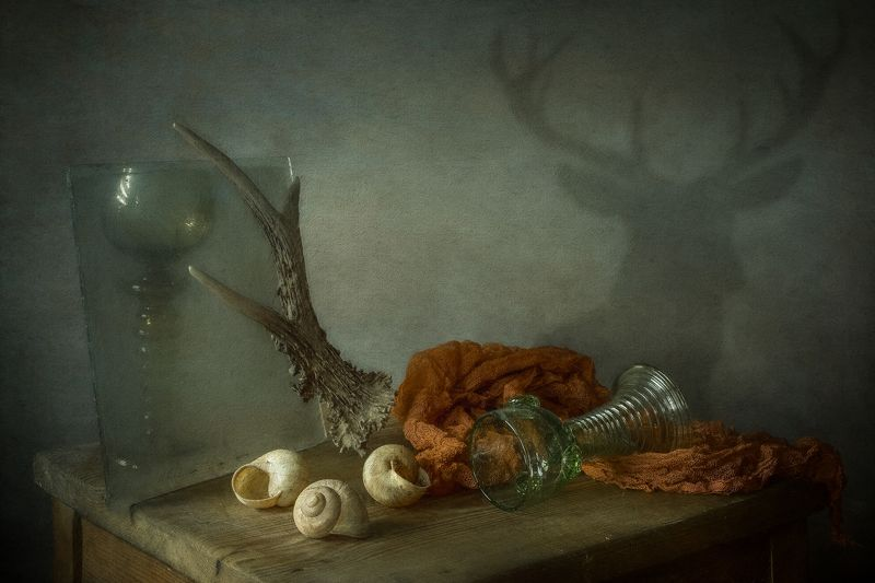 still life, composition, vintage, memory, deer, old, dutch painting, dutch, painting deerphoto preview