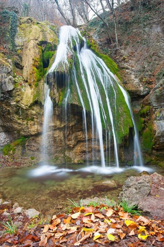 джур-джур, водопад джур-джур, алушта, хапхал, урочище хапхал, улу-узень, река улу-узень Водопад Джур-Джурphoto preview