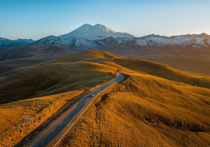 кавказ, джилу – су, эльбрус, кавказский хребет, осень, путешествие, горы, горное, дорога, туризм, национальный парк приэльбрусье, закат, Дорога зовёт!photo preview
