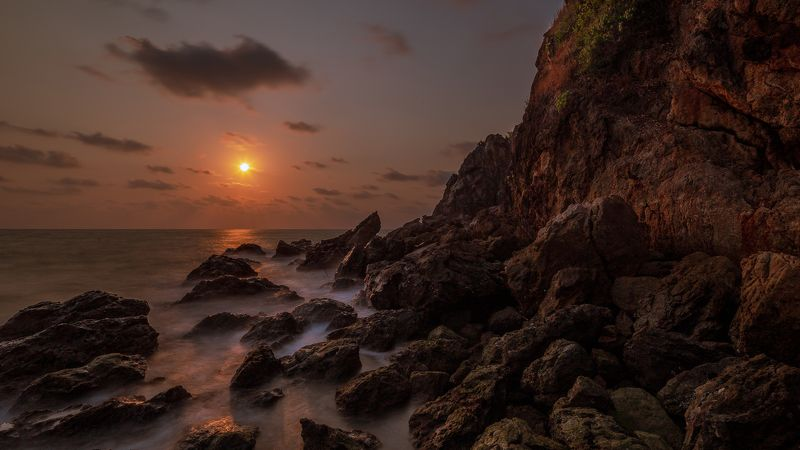 seascape, landscape, sunset, rocks Sunsetphoto preview