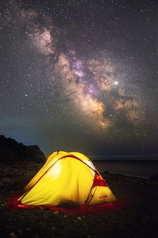 ночь, звезды, астро, млечный путь, milky way, крым, юбк, черное море, балаклава, весна Перед лицом Вечностиphoto preview