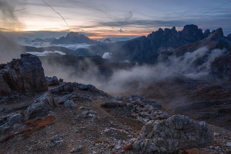италия, доломиты, горы, облака, закат, осень, природа, landscape, italy, dolomites Закат в Доломитах.photo preview