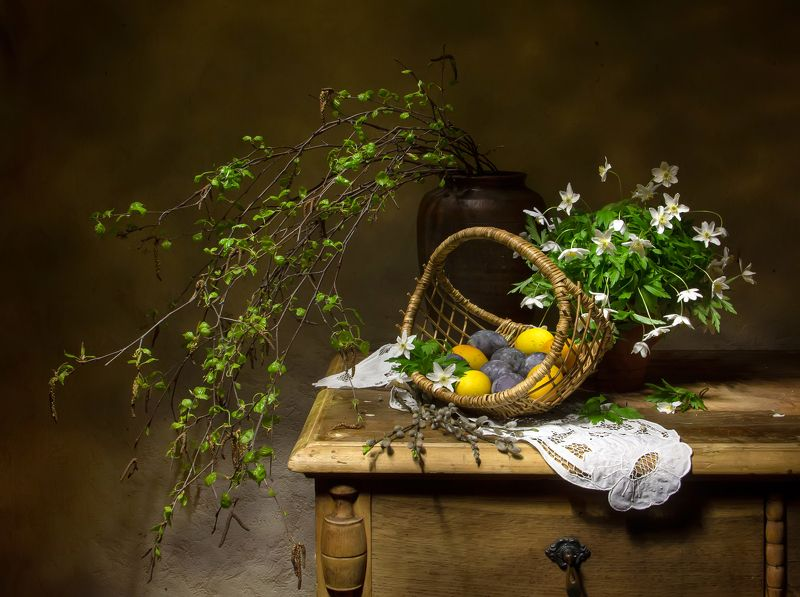 натюрморт, яйца, березка, ветреница В ожидании...photo preview