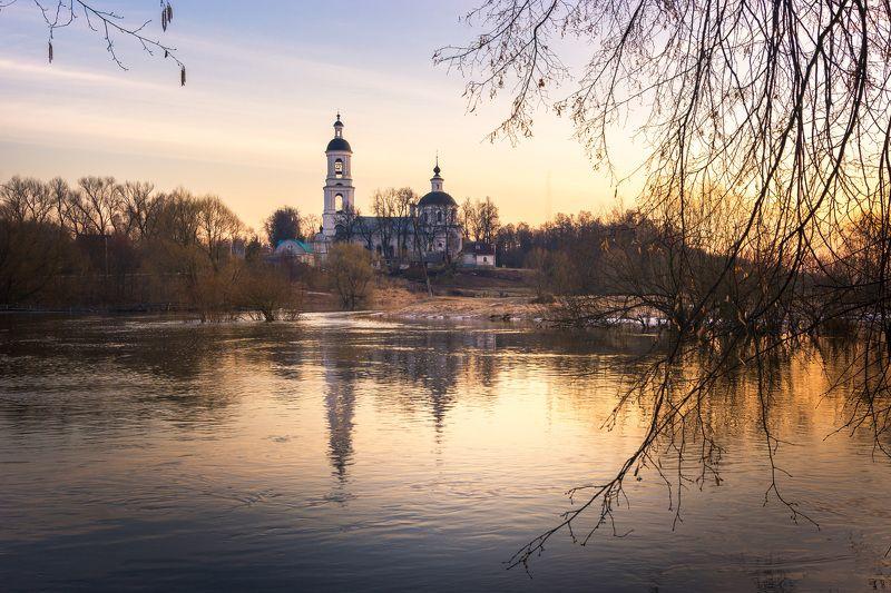 туман, владимирская область, утро, природа, пейзаж, весна, река, солнце Половодье на р. Шернаphoto preview