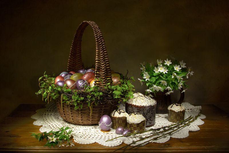 натюрморт, яйца, ветреница, кулич, куличи, пасха Со Светлой Пасхой!photo preview