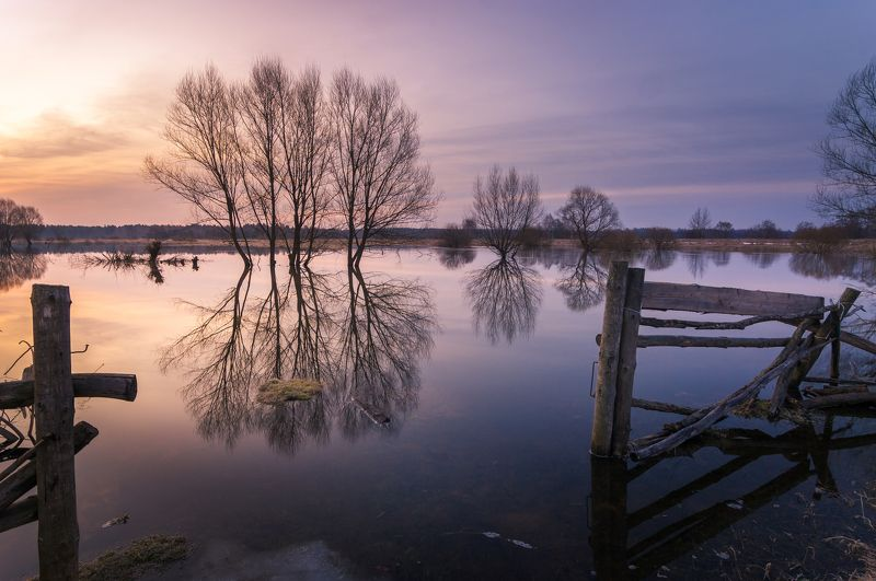 туман, владимирская область, утро, природа, пейзаж, весна, половодье, солнце Весна во Владимирской областиphoto preview