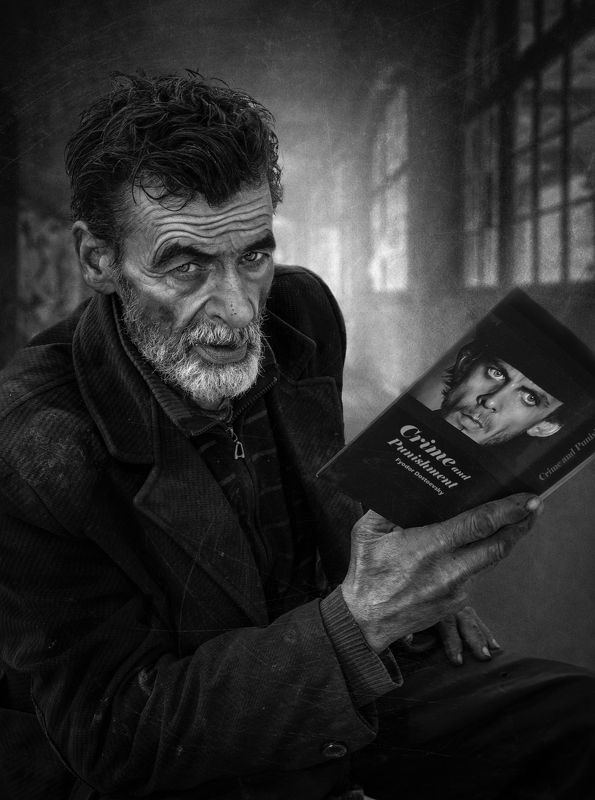 #people #portrait #face #skin #look #eye #human #book Crime and Punishmentphoto preview