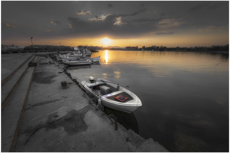 #sea#sunset#boat#seascape Sunset and the seaphoto preview