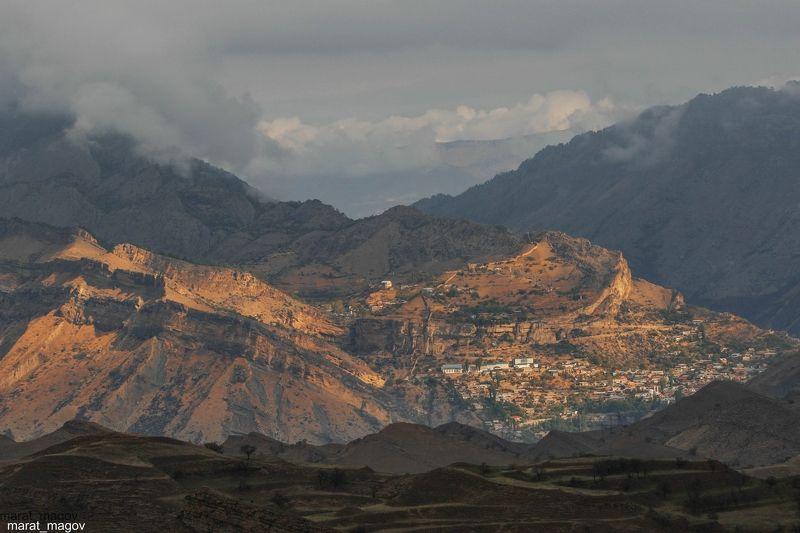 горы,гуниб.вершины,пейзаж,небо,деревья,дагестан,природа Вид на Гуниб..photo preview