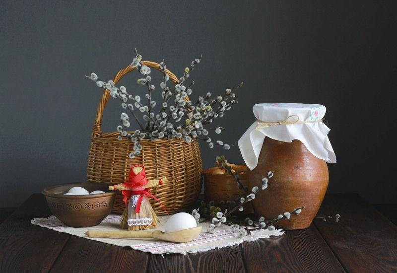 натюрморт, фотонатюрморт, верба, яйца, весна, наталья казанцева Тепла, добра, уюта дому вашему!photo preview