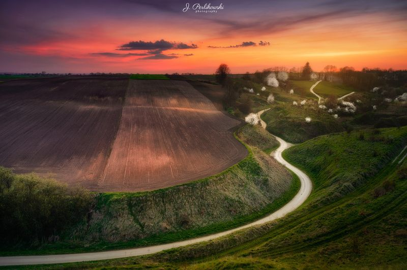 countryside, sunset, fields, spring Countrysidephoto preview