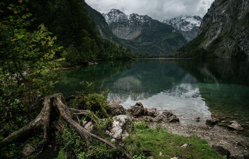 озеро; лес; горы; германия Затерянный Мирphoto preview