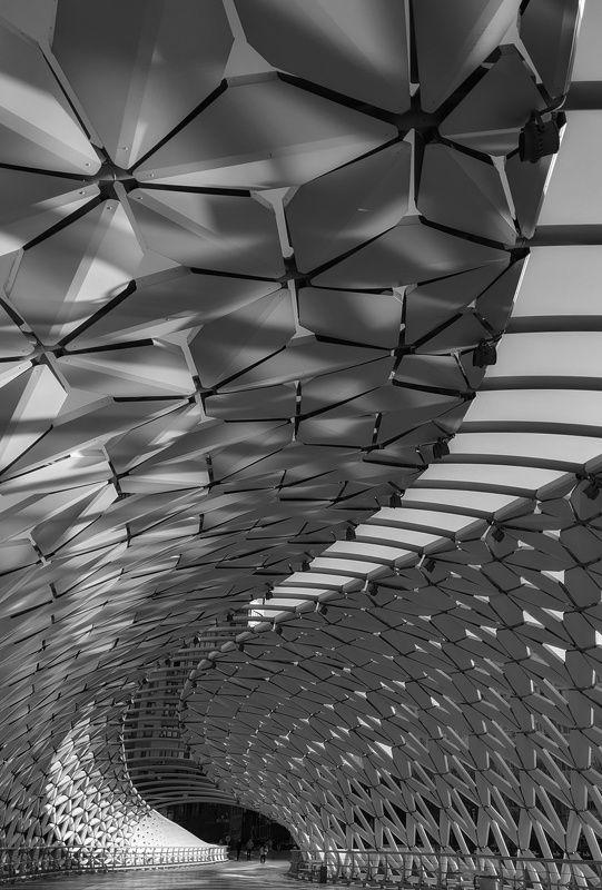 мост, абстракция, изгибы, пеше Изгибы городских мостов...photo preview