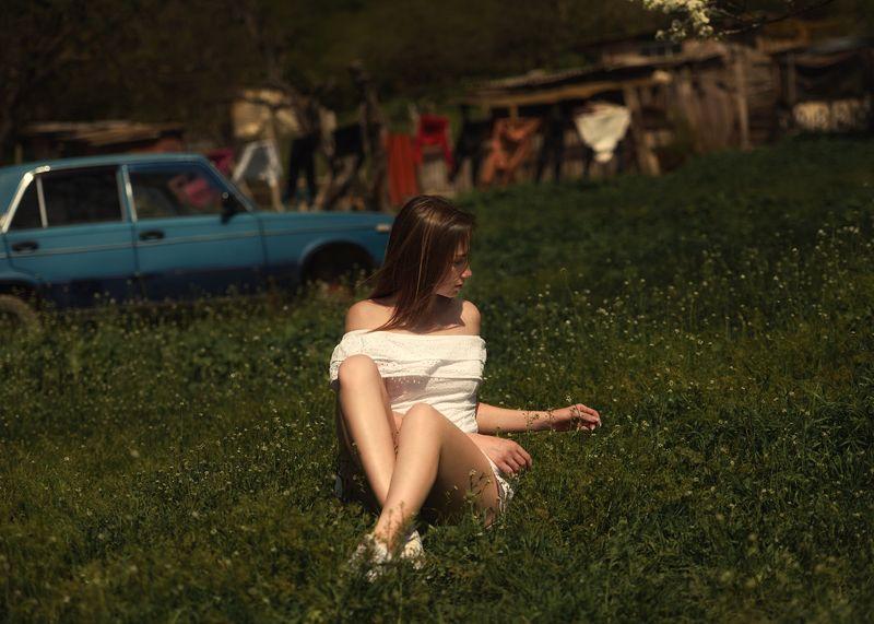 девушка, портрет Дворphoto preview