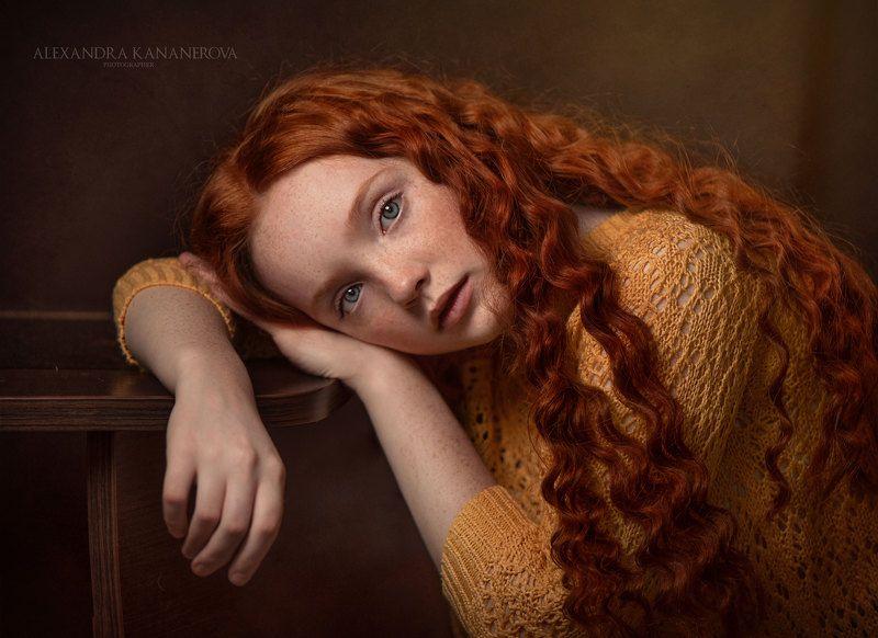 портрет, девушка, студийный портрет Портретphoto preview