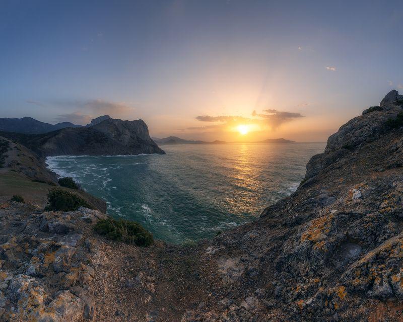 Новый свет, природа, пейзаж, морской пейзаж, рассвет, Крым, весна Рассвет на Копчикеphoto preview