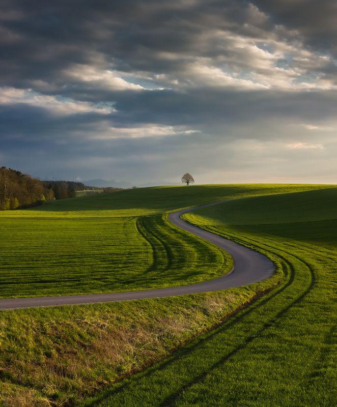 германия, бавария, горы, облака, весна Весенний пейзаж.photo preview