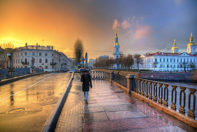 санкт-петербург дождливый закат на Крюковом канале...photo preview