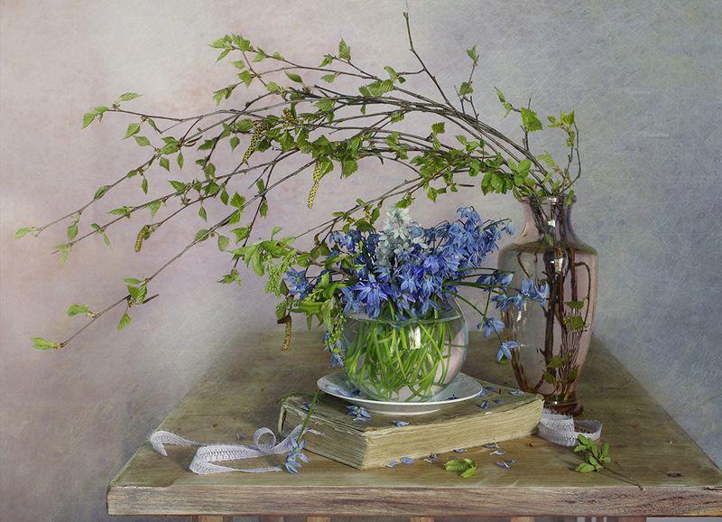 натюрморт,цветы,весна,вера павлухина, Весенние цветы.photo preview
