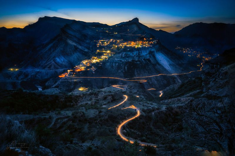 гуниб, дагестан, gunib, dagestan, long exposure, night, lights Гунибский цветокphoto preview