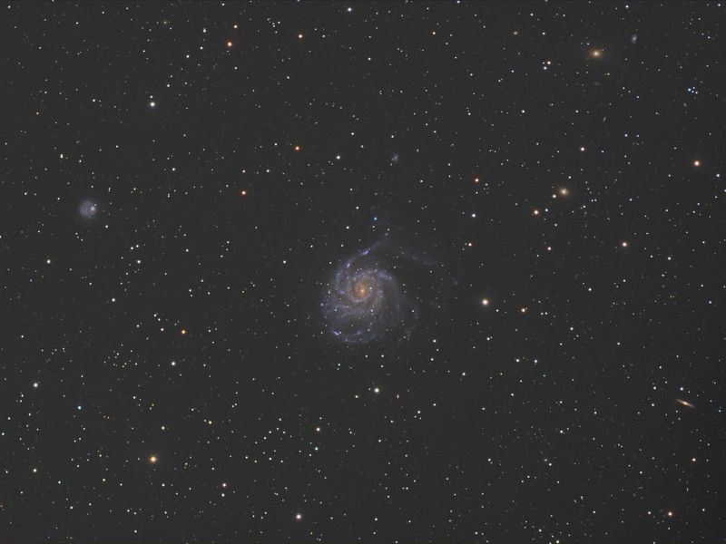 m101, space, milkyway, deepsky, star, galaxy. messier, astro, astrophoto, longexpo M101photo preview