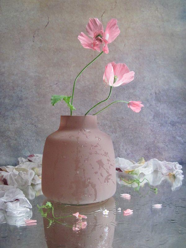 цветы, букет, маки, стекло, шарф Нежныйphoto preview